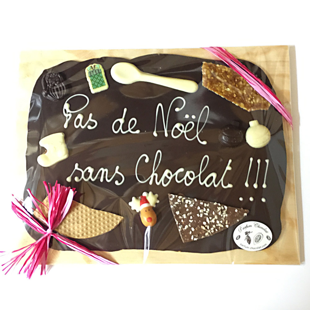 Top Parfum Chocolat - Plaques Personnalisées - Artisan Chocolatier  BW84